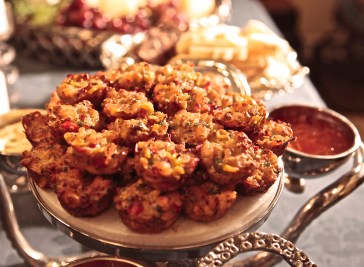 These Shrimp & Corn Cakes are baked in mini muffin pans so they are less labor intensive.