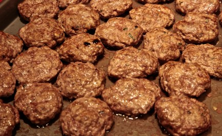In saute pan, heat olive oil and gently brown the patties.