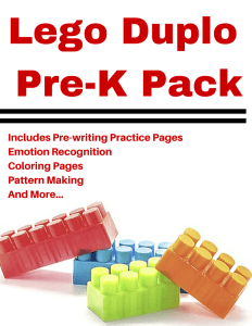 15 page Lego Pre-K Pack. This pack is filled with fun activities for lego lovers! There are pattern pages, coloring pages, and more! Pin this for a rainy day.