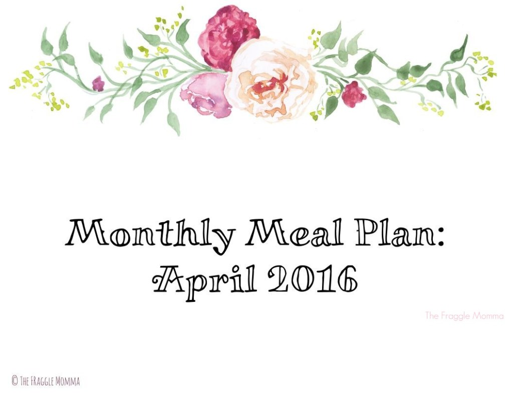 Free Printable Monthly Meal Plan