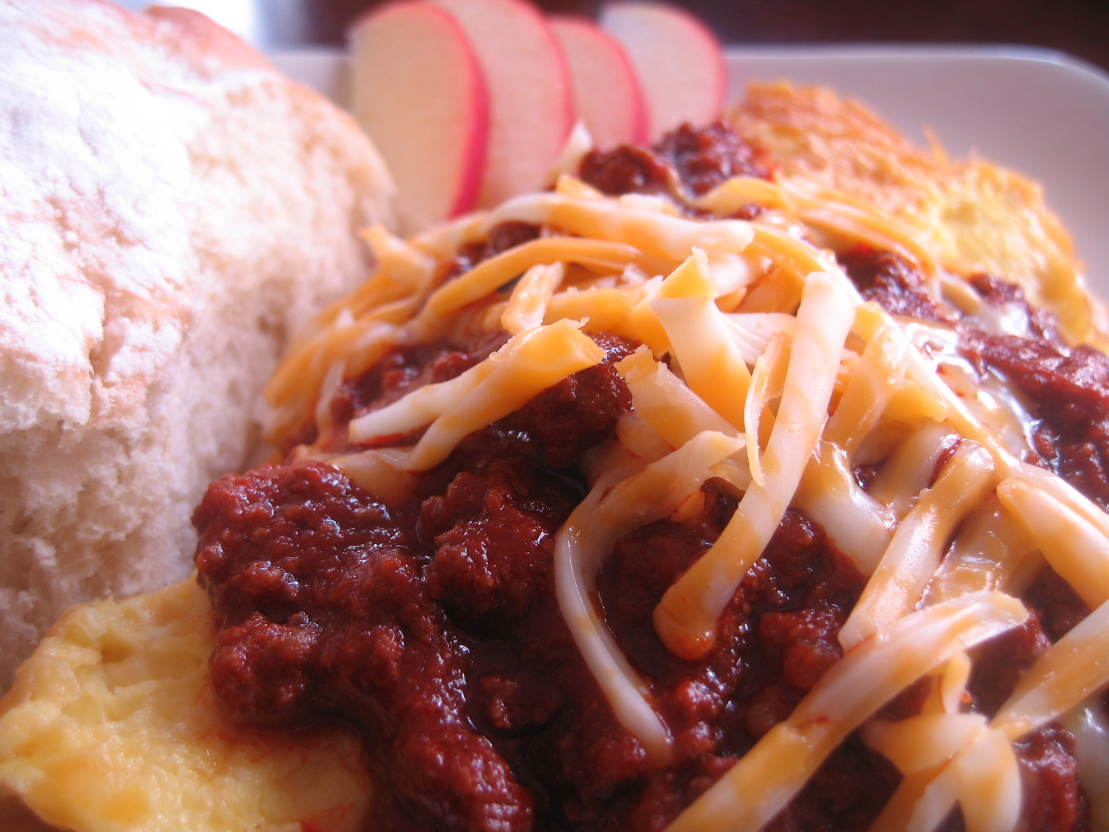 My Delicious Breakfast-Red Chili and Cheese Omelet — At ...
