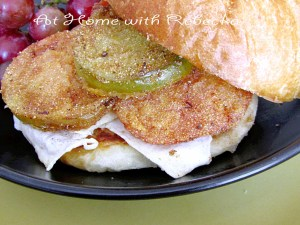 Fried Green Tomato and Egg Sandwich-my delicious breakfast