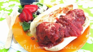 Baked Meatballs for the best ever Meatball Sandwiches