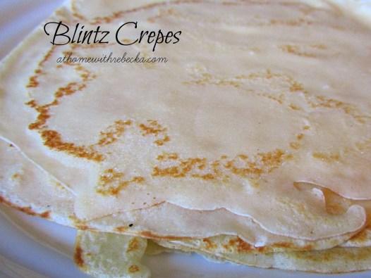 Crepes for making blintzes