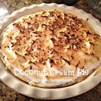 Emeril Lagasse's Coconut Cream Pie - Happy #PIDAY