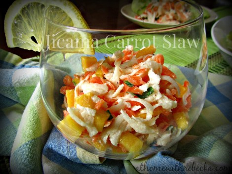 Jicama Carrot and Mango Slaw