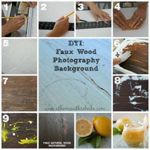 DIY Faux Wood Photo Backdrop, and a New Gift for Me!