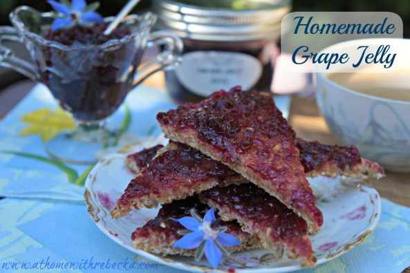 Homemade grape jelly is better than anything you can buy in a grocery store! This homemade grape jelly recipe is easy to make, and will be the star of your canning pantry!