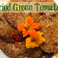 Fried Green Tomatoes with Crispy Grits Batter