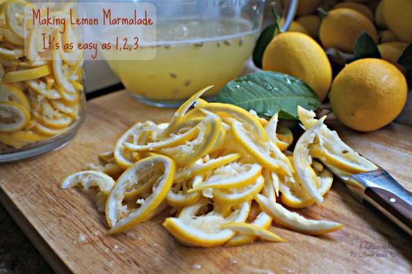 Making Lemon Marmalade