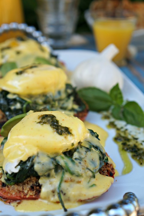 Gilroy Garlic Festival Eggs Benedict Florentine