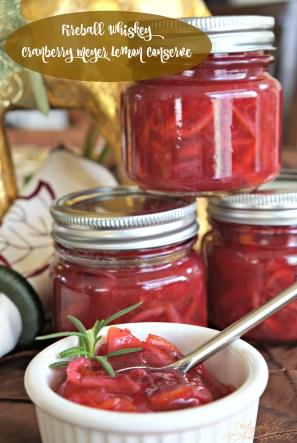 FIREBALL Cranberry Meyer Lemon Conserve