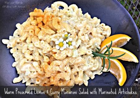 Warm Macaroni Salad with Preserved lemon