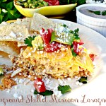 Campground Skillet Mexican Lasagna with Creamy Salsa -Del Real Foods Recipe Challenge 2016