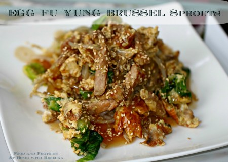 Egg Foo Yung with Brussels Sprouts