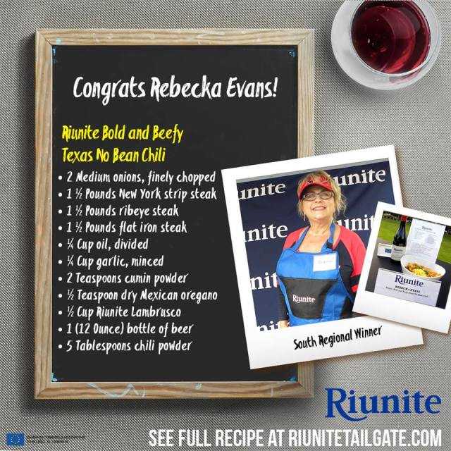 Riunite South Regional Winner Rebecka Evans
