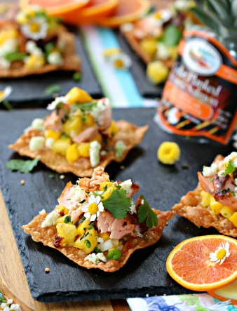 Cedar Bay Orange Ginger Salmon Nachos