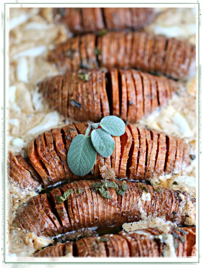 Hassellback Sweet Potatoes