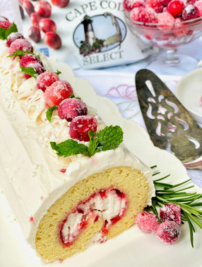 Cranberry Jelly Swiss Roll
