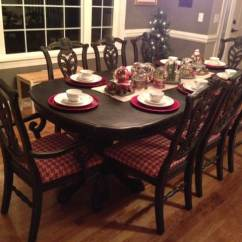 Black Kitchen Table And Chairs Mid Century Modern I Love Paint At Home With The Barkers Dining Room Christmas