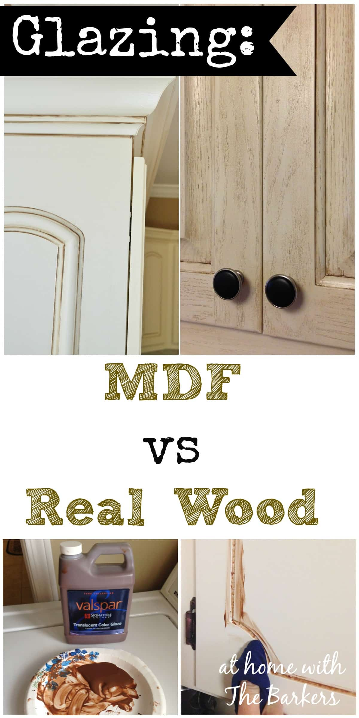 Glazing MDF versus Real Wood  At Home with The Barkers