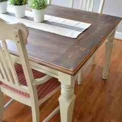 Farmhouse Table And Chairs With Bench Antique Wooden High Chair For Sale Makeover At Home The Barkers