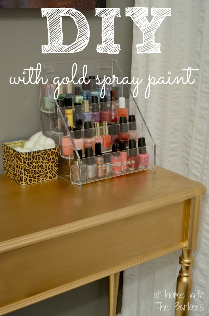 Spray Paint Projects At Home With The Barkers
