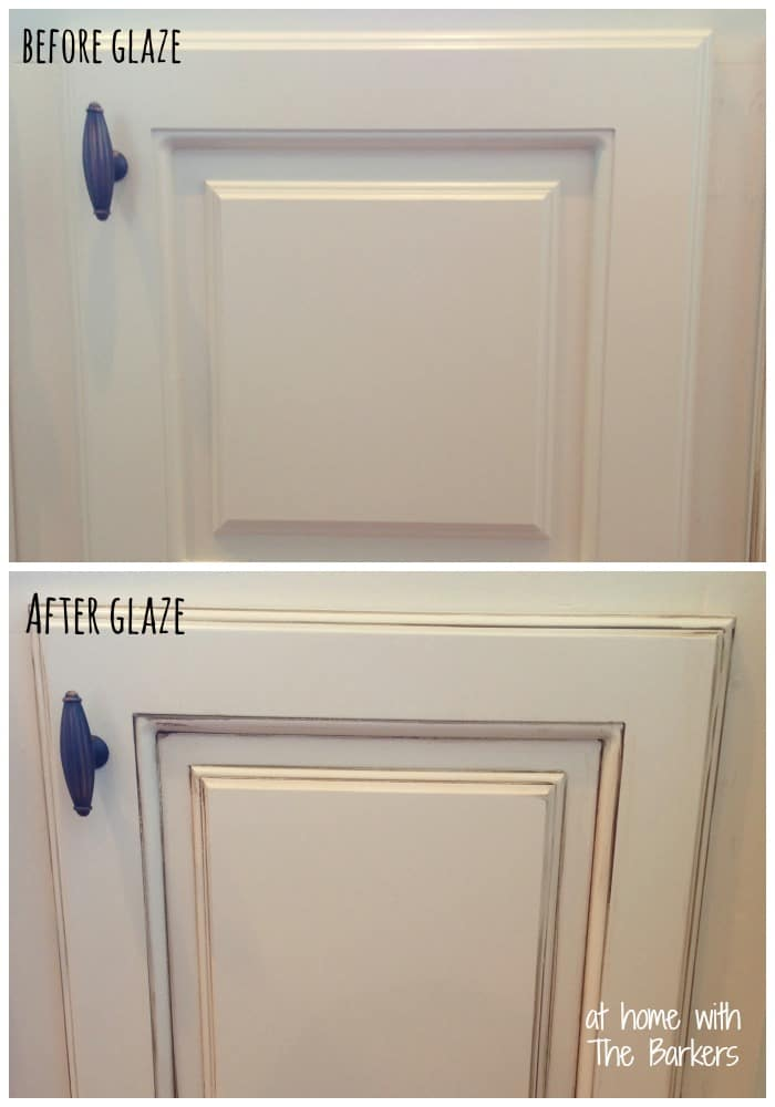 Glazing Oak Cabinets Before After