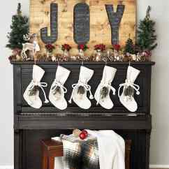 How To Decorate My Living Room Rustic Black Gloss Furniture Extreme Christmas Mantel Inspiration- At Home With The Barkers