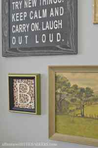 Thrift Store Art Makeover-At Home with The Barkers