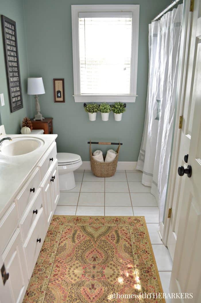 Charmant Bathroom Paint Color Green Trellis By Behr