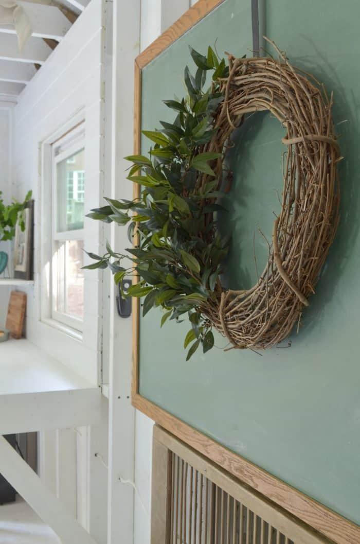 wreath with monogram