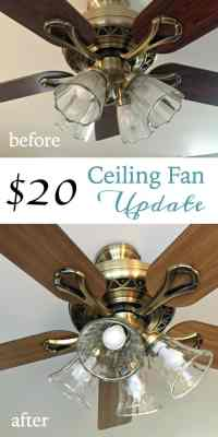 Ceiling Fan Update - At Home with The Barkers