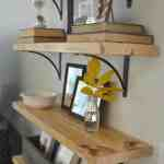 Diy Rustic Wood Shelves At Home With The Barkers