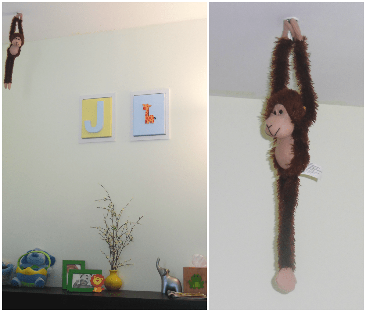 baby room hanging monkey