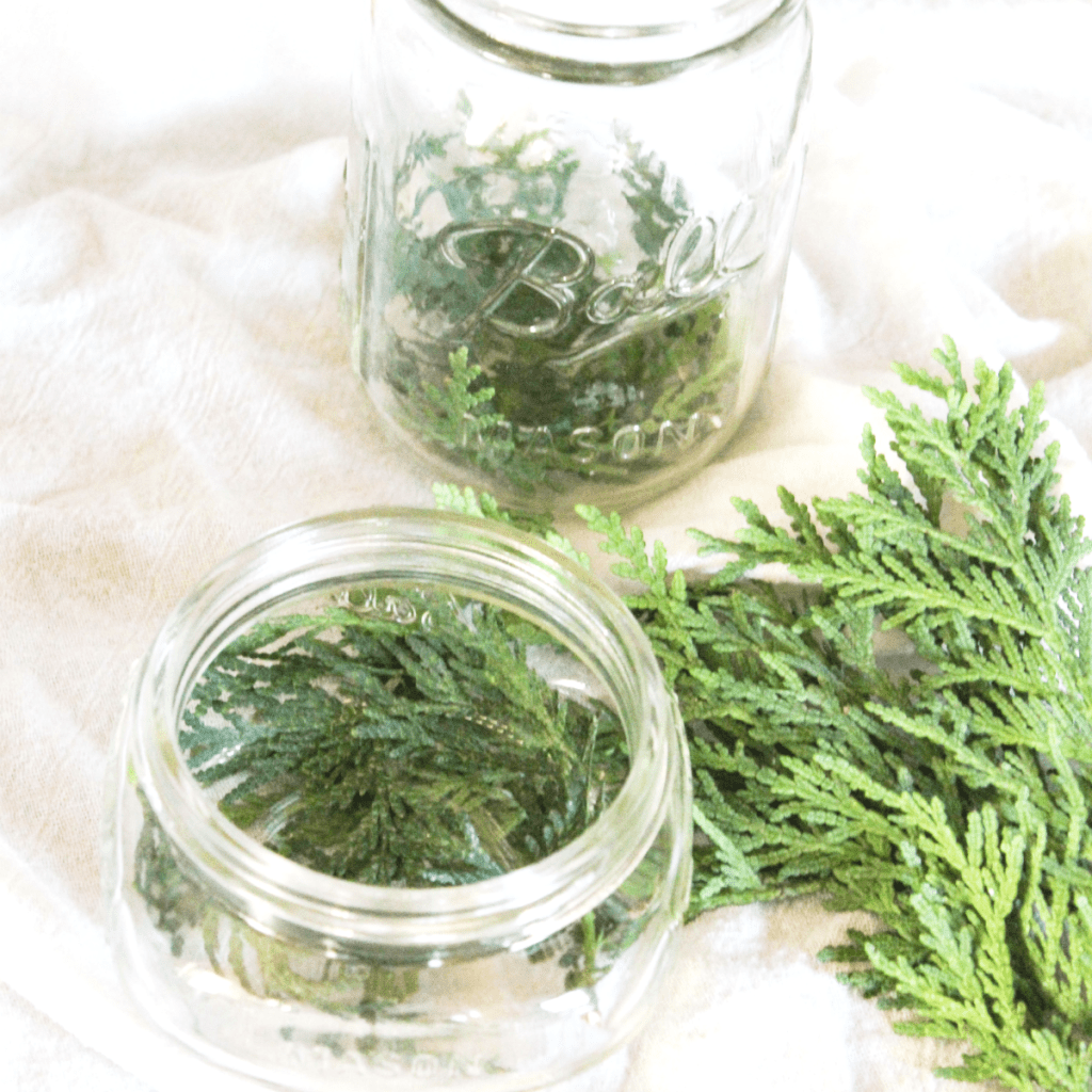 diy-holiday-centerpiece-greenery