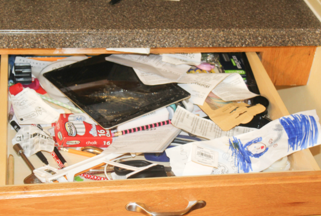 Disorg desk drawer