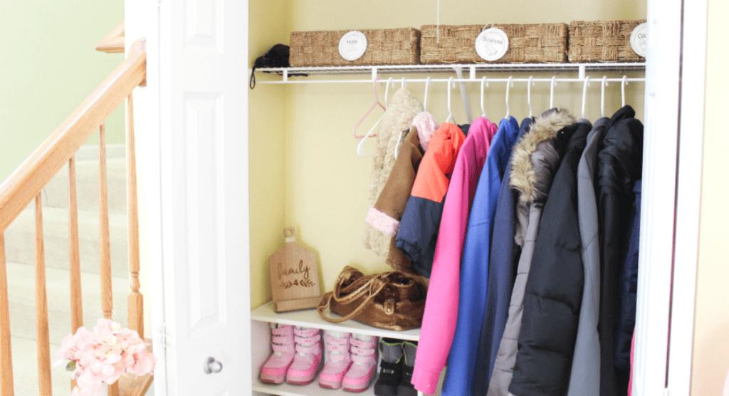 Entryway organization - coats