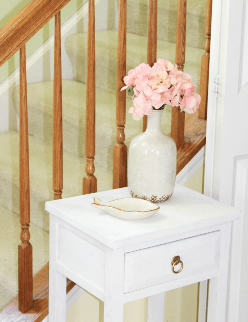 organized entryway small table