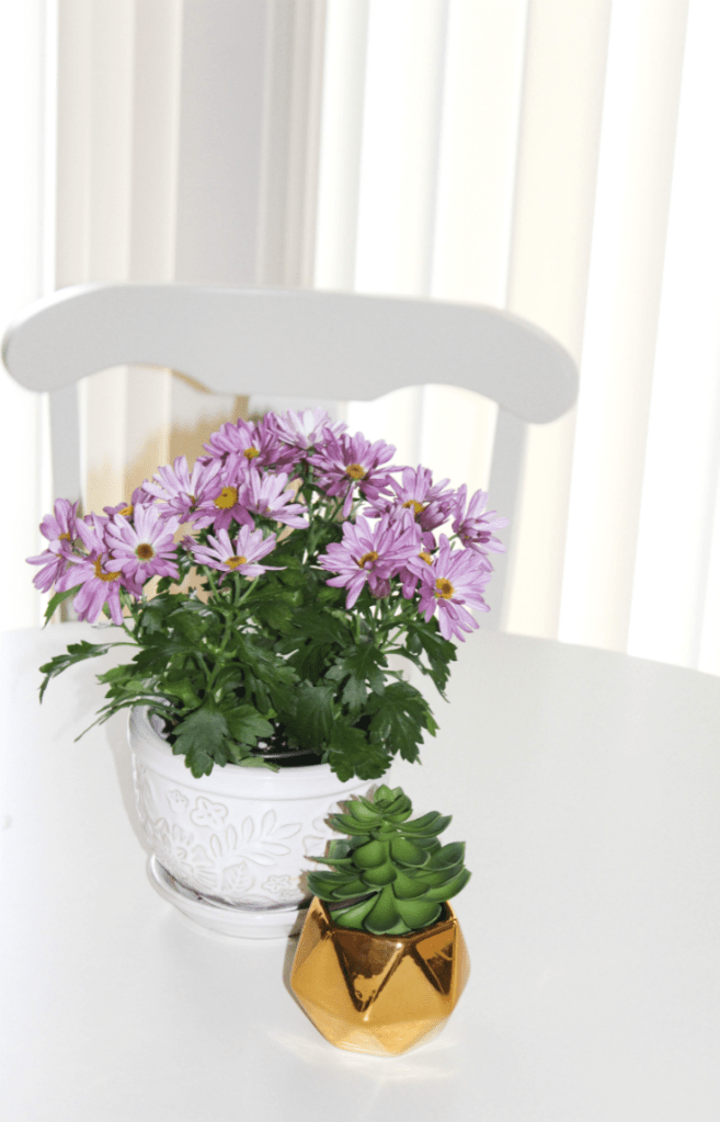 Breakfast Nook Reveal - with Fresh Flowers