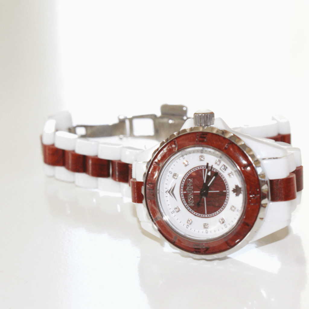 Konifer Wood Watch - Ceramik for Women - At Home with Zan