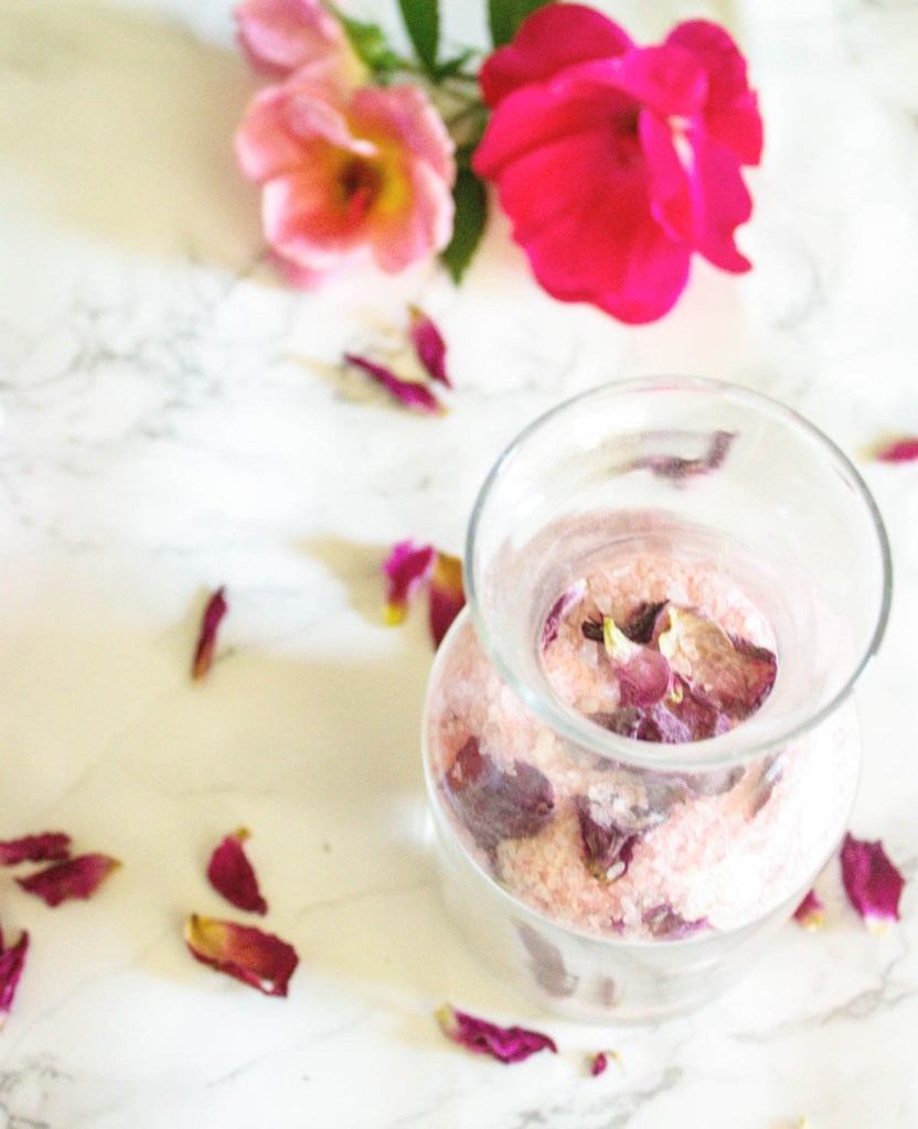 Rose Petal Bath Salts - At home With Zan -