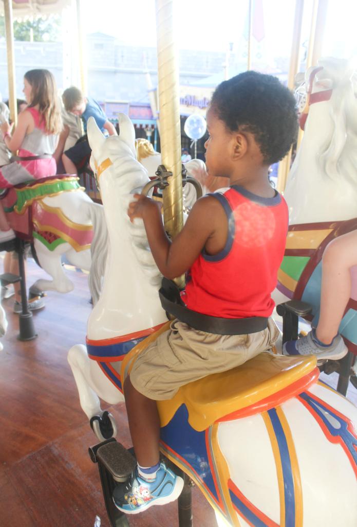 Orlando Vacation - Disney's Magic Kingdom - Merry Go Round - At Home With Zan