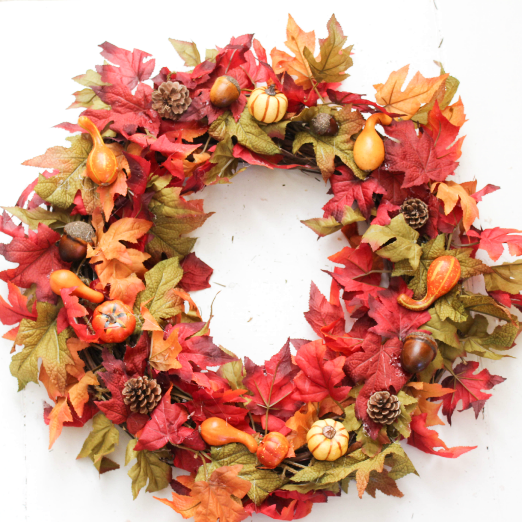 DIY Fall Wreath - Autumn Wreath - For Front Door - Quick & Easy - At Home With Zan