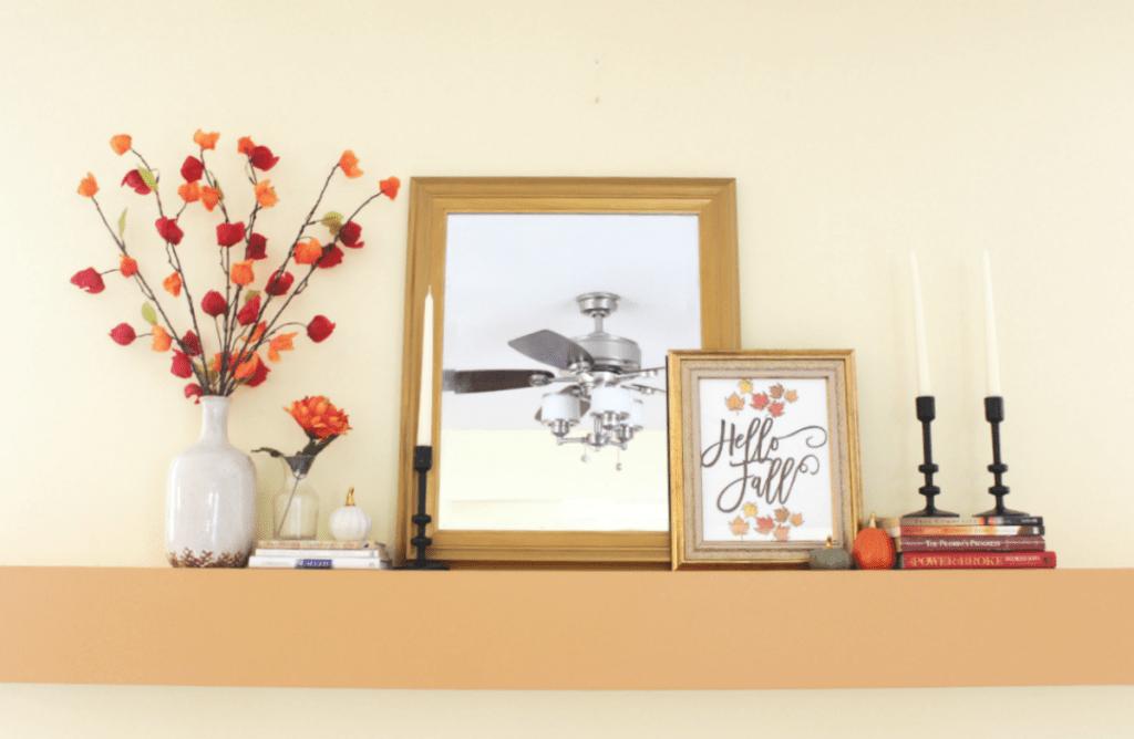 Fall Mantel - Home With Zan
