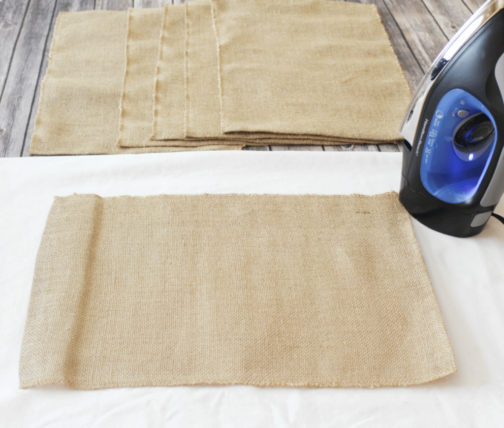 DIY Burlap Placemats - Iron to Smooth - At Home With Zan