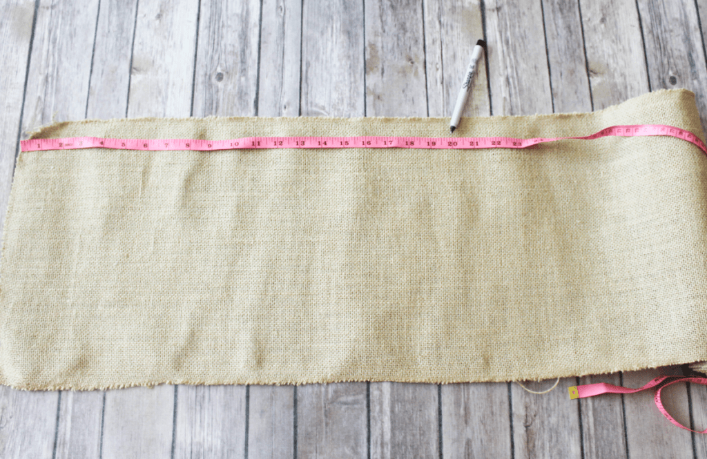 DIY Burlap Placemats - Measurements - At Home With Zan
