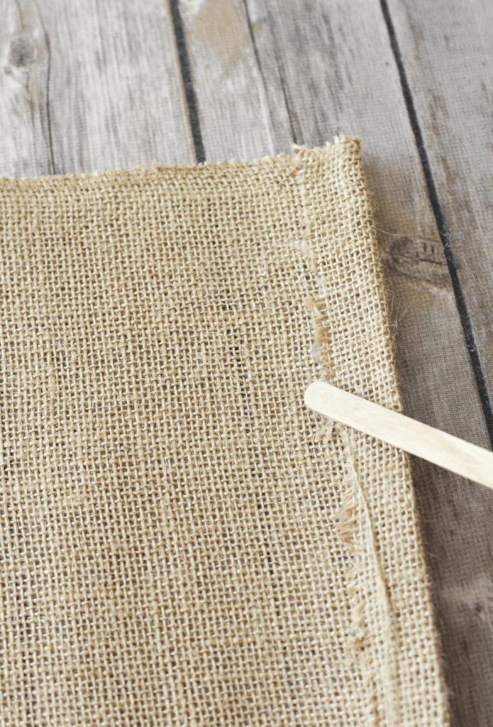 DIY Burlap Placemats - No Sew - At Home With Zan