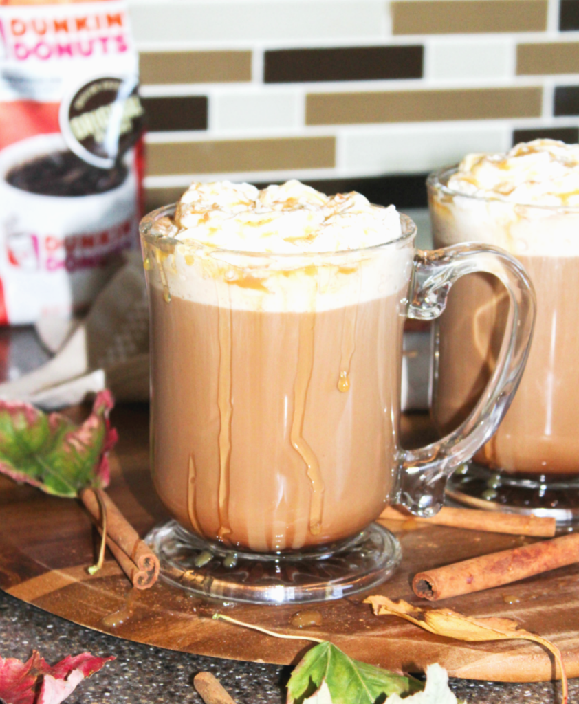 Fall Kitchen - And Caramel Mocha Recipe - With- Dunkin' Donuts Coffee - From At Home With Zan -