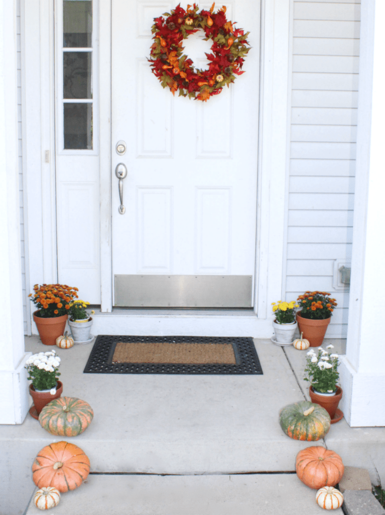 Fall Porch - At Home Wtih Zan -